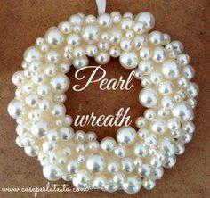 #9 - Pearl Ornament Wreath