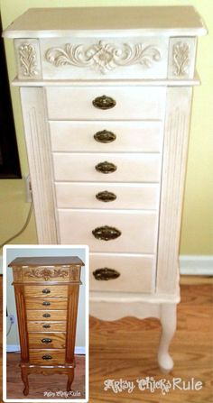"Painted+Furniture+Before+and+After | ... color so painted it in "" Antoinette ""- Annie Sloan Chalk Paint #chalkpaintedfurniture"