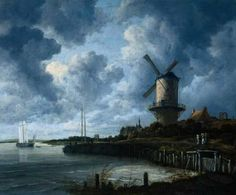 Jacob van Ruisdael, The Windmill at Wijk bij Duurstede, ca. 1670