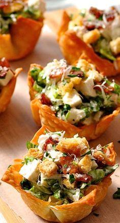 15 caesar salad wonton cups solutioingenieria Images