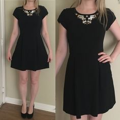 Banana Republic black embellished neck dress Very beautiful dress! Excellent condition Banana Republic Dresses Mini