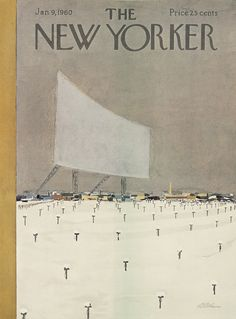 "The New Yorker - Saturday, January 9, 1960 - Issue # 1821 - Vol. 35 - N° 47 - Cover by : ""Alain"" - Daniel Brustlein"