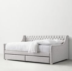 Devyn Upholstered Storage Daybed - available as a full mattress