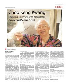 Choo Keng Kwang — Exclusive Interview with Singapore's  Renowned Pioneer Artist (pg 1/2)  To Read, Visit SG Mobile Site: http://sea.epochtimes.today/  Global Site: http://www.theepochtimes.com/