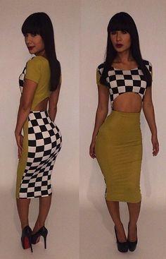 ff5edeeb8e6c Checker board pattern is sizzling Jumpsuit Dress