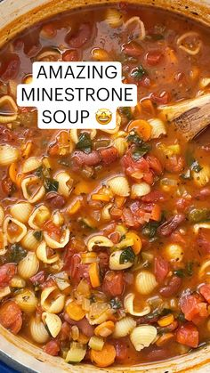 Healthy Soup Recipes, Vegetarian Recipes, Crock Pot Cooking, Cooking Recipes, Ground Beef Stews, Recipe Minestrone, Ham And Bean Soup, Dinners, Meals