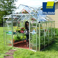 Palram Snap and Grow 8' x 8' Hobby Greenhouse , Silver