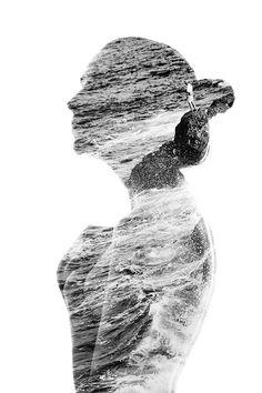 影像重疊的浪漫人體攝影
