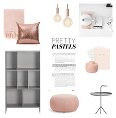 """PASTEL DECOR"" by canvas-moods ❤ liked on Polyvore featuring interior, interiors, interior design, home, home decor, interior decorating, Surya, Arper and HAY"