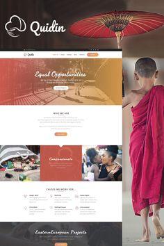 WordPress Template , Quidin - Charity Fully Responsive