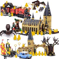 Harri Great Potter Hall Express Castle Building Blocks Bricks DIY Toys for children Gifts Compatible 75954 Lego Harry Potter, Harry Potter Hogwarts, Cheap Toys, Lego Brick, Diy Toys, Gifts For Kids, Castle, Bricks, Children