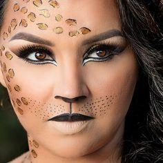 Cheetah halloween makeup. Amazing work by @dajanamakeup on ...