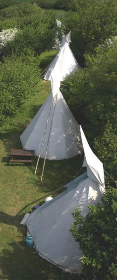 Cornish Tipi Holidays   England, UK - #glamping in #teepees - they provide the basics, like shelter, a campstove, cool box, and utensils…you bring the rest and enjoy a vacation in the countryside.