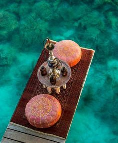 Date night at @Four Seasons Resorts Maldives: shisha for two, over the ocean blue.