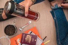 Travel Mug de Vidrio // Lleva tu té a todos lados con este termo con infusor de doble vidrio