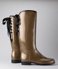 Take a look at this Bronze Pearl Victoria Rain Boot by däv on #zulily today!