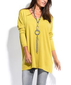 cc16595d20be Another great find on #zulily! Mustard V-Neck Sweater - Plus Too #