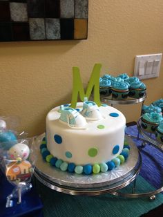 Baby Boy Shower Cake, so cute only with an H on it