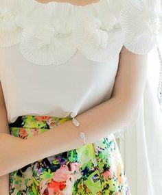 Double Winged Bracelet in Silver - Shop LuLu