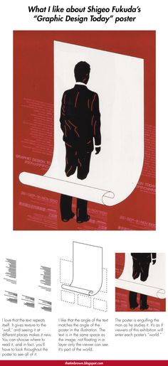 """thetimbrown: What I like about Shigeo Fukuda's """"Graphic Design Today"""" poster"""