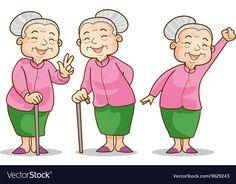 Funny Illustration Old Woman Cartoon Character Stock Vector (Royalty Free) 383045263 Cartoon Grandma, Old Lady Cartoon, Cartoon Posters, Retro Cartoons, Cartoon Drawings, Doodle Drawings, Avatar Characters, Cartoon Characters, Caricature