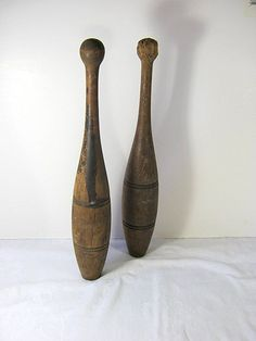 Antique INDIAN PiNS JUGGLING CLUBS   by LavenderGardenCottage on Etsy