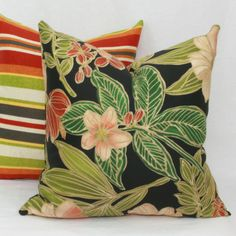 Tropical floral indoor/outdoor decorative throw by JoyWorkshoppe