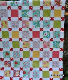 Apple Blossoms Layout disappearing 9 patch using large patches.. goes fast and has a striking appearance