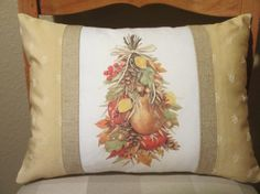 Thanksgiving or Fall Pillow Cover by ComfortsofHomeDecor, $29.00
