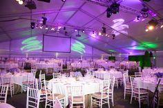 Losberger tent, Wine Experience Tulsa, elegant rustic wedding decor burlap, white linen table overlay