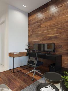 Rustic Beauty in an Inner-City Apartment (Interior Design Ideas) Modern Apartment Design, Decor Pad, Appartement Design, Workspace Design, Beautiful Interiors, Contemporary Interior, Luxury Living, Modern Decor, Home Office