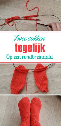 Superhandige tutorial over hoe je twee sokken tegelijk breit. Knitting Videos, Knitting Projects, Knitting Patterns, Sewing Piping, Knit Crochet, Crochet Hats, Knitted Slippers, Facon, Knitting Socks