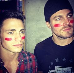 Colton Haynes and Stephen Amell - character inspiration -  Lindsey Pogue - Adventure Romance New Adult Author - www.lindseypogue.com