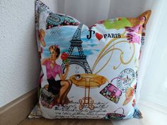 Pinup collage pillow cover