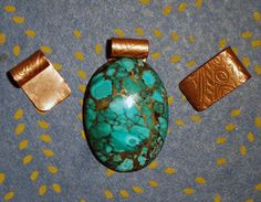 Copper Pendant Bails handmade findings etched por McDaddio