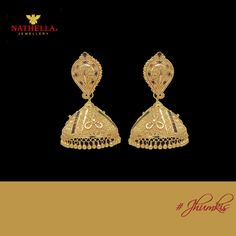#‎Nathella‬ ‪#‎Featured‬  Going out for a formal dinner, wondering what to wear with formal clothing? ‪#‎Gold‬ is your safest add on for any formal event. Try on this beautiful pair of ‪#‎Jhumkis‬ from Nathella Jewellery. This glamorous pair of hanging #Jhumkis with mango designed studs is encased with bright red, yellow and green enamels, adding to the richness of your attire.  Shop online at your convenience on http://www.nathella.net