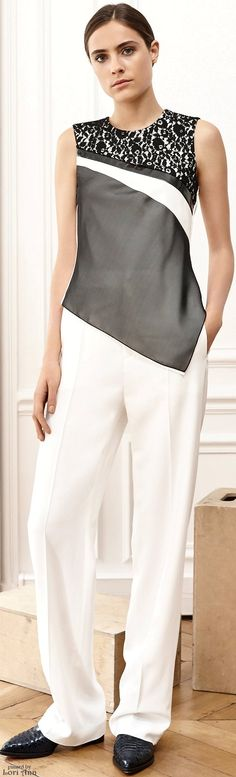 Bouchra Jarrar Spring 2016 RTW women fashion outfit clothing style apparel @roressclothes closet ideas