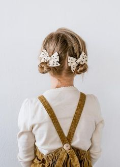 Mini Pinwheel // Lily Pigtail Set - Wunderkin Co. - Classic hair bows handmade by women in the USA and guaranteed for life. Simple hair bows for your baby toddler or little girl and her free spirited style. - June 29 2019 at Vintage Kids Fashion, Little Girl Fashion, Baby's First Haircut, Pretty Braided Hairstyles, Braid Hairstyles, Girl Hair Dos, Curly Girl, Baby Girl Hairstyles, Toddler Hairstyles