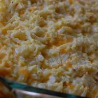 Cracker Barrel's Hashbrown Casserole. I added some left over ham as well.