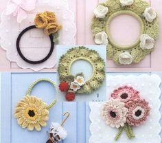Вязание крючком украшений и аксессуаров. Схемы вязания цветочков, маленьких фигурок, сережек, ожерелья. Вы также научитесь обвязывать резинки для волос