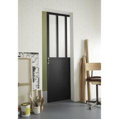 Porte coulissante vitrée, Atelier, 204x73cm | Leroy Merlin