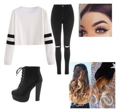 """school outfit #2"" by momocarri on Polyvore featuring Topshop"