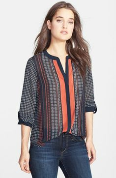 Sanctuary Scarf Print Blouse available at #Nordstrom