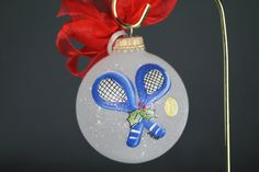 Hand Painted Tennis Ornament  Personalized by PersonalizedPainter, $14.00