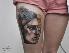 Isaac Asimov. Robot.   by Lukas Zglenicki (Cykada Tattoo)
