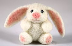 Needle Felted Easter Bunny. Handmade Easter Gift. Miniature Animal in a Gift Box. Easter Home Decor