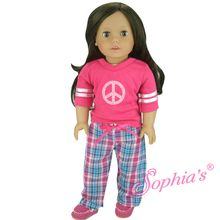 """Peace sign Pajamas that fit 18"""" american girl dolls. Use special discount code PIN10"""