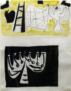 "Study for ""The Wall of the Temple""	  Robert Motherwell	  c. 1950"