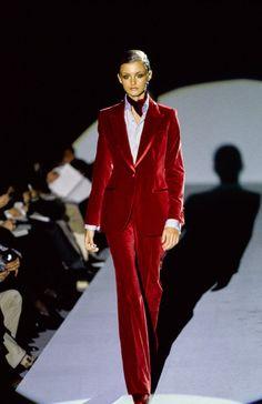 """lelaid: """" Trish Goff at Gucci F/W 1996 """""""