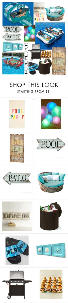 """Pool Party Madness"" by chaoticangel79 ❤ liked on Polyvore featuring interior, interiors, interior design, home, home decor, interior decorating, ban.do, Urban Outfitters, Été Swim and Skyline"